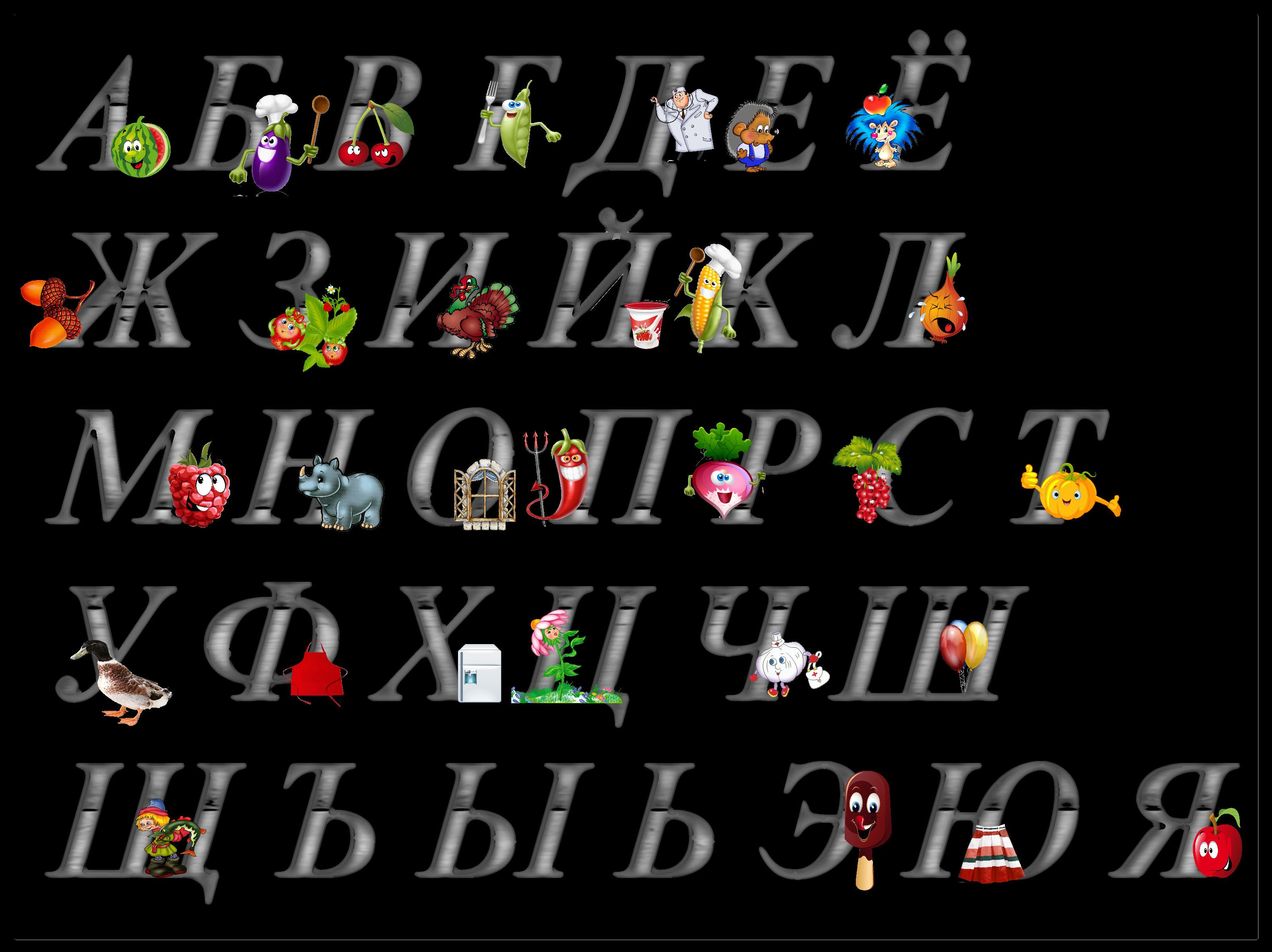 Поздравление на все буквы алфавита
